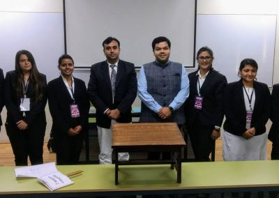 Mr. Chintan Pathak invited as a Judge of National Moot Competition-2018 organized by Auro University.