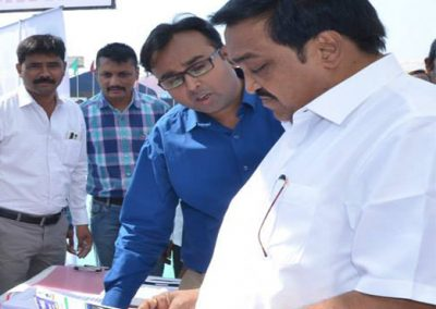 Mr. Chintan Pathak explaining to MP Shri. C R Patil Sir about importance of Cyber Safety of Citizen for the sucess of Digital India during National Book Fair 2015