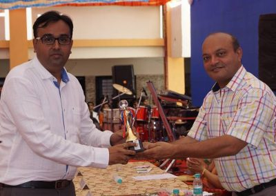 Mr. Chintan Pathak awarded as an Excellent Achiever & Important Contribution in Society by Mr. Mahesh Savani during annual function of CD Barfiwala College of Commerce.