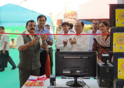 "Mayor Shri. Rajendrabhai Desai inaugurated first ever ""Cyber Safety for All Campaign"" in Surat City during National Bookfair-2011 with Mr. Chintan Pathak, President of Vision of Tomorrow Charitable Trust."