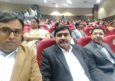 "Mr. Chintan Pathak with Dr. Triveni Singh (DSP, Cyber Cell, Noida Police during launching of ""Cyber Suraksha Kavach"" at Gujarat Forensic Science University (GFSU), Gandhinagar on 7th February 2017."
