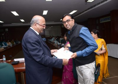 "Dr. Venkata Rao, Vice Chancellor of NLSIU,Bagaluru awarded certificate to Mr. Chintan Pathak on successfully completed course on ""Cyber Crimes, Cyber Laws & Cyber Forensic"" from NLSIU Bangaluru."