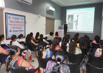 "Mr. Chintan Pathak invited as a keynote speaker for Workshop on ""Women Internet Safety Education- WISE"" organized by Navsari Management Association (NMA) & All India Management Association (AIMA) at Navsari."